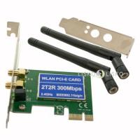 Placa De Rede Wifi PCI Express com 2 Antenas 300Mbps Perfil Baixo