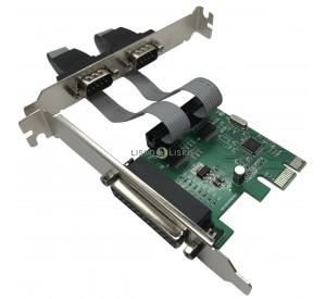 Placa PCI Express X1 2 Seriais 1 Paralela Low Profile JPP-04