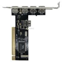 Placa PCI USB 2.0 Via 4+1 Portas JPU-01
