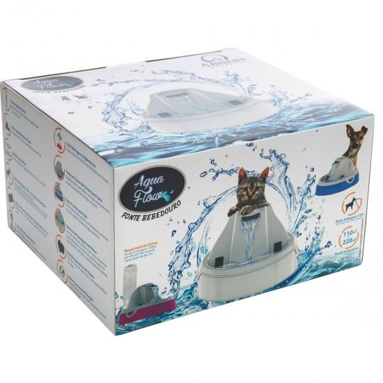 Bebedouro Fonte Cães Gatos 3,5L Bivolt Aqua Flow Amicus Verm