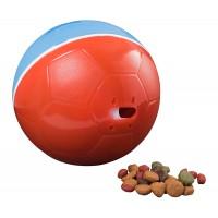 Comedouro Crazy Ball Vermelho e Azul 300g