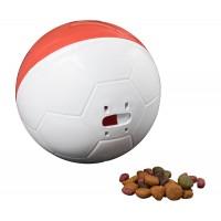 Comedouro Crazy Ball Vermelho e Branco 300g