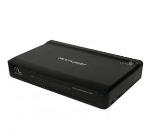 Mini Switch 16 Portas 10/100 Mbps Mdi/Mdix Bivolt RE116