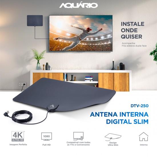 Antena Digital Interna Slim DTV-250