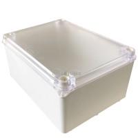 Caixa De Passagem Branca com Tampa Transparente 11x15x7 cm