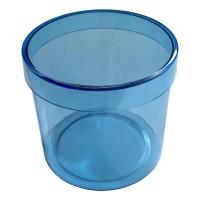 Caixinha de Acrílico Redonda Azul 4,5cm - 100 unidades