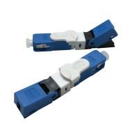 Conector Reutilizável Fibra Óptica Ftth Sc Apc Azul - 10 Unidades