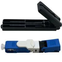 Conector Reutilizável Fibra Óptica Ftth Sc Apc Azul - 50 Unidades + 1 Gabarito
