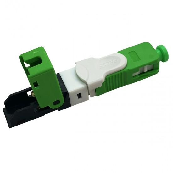 Conector Reutilizável Fibra Óptica Ftth Sc Apc Verde - 50 Unidades + 1 Gabarito