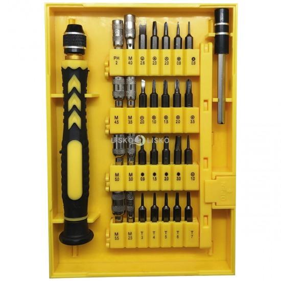 Kit de Ferramentas para Eletrônicos com 38 Chaves