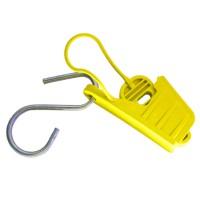 Esticador Mini Cunha para Cabo Drop Amarelo - 50 Unidades