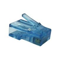 """Modular Plug 8x8 Rj45 com Banho 50"""" De Ouro - 100 Unidades"""