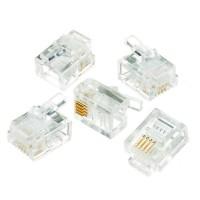 Plug Conector Modular Rj11 (6x4) - 100 Unidades