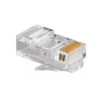Modular Plug 8x8 Rj45 Com Banho De Ouro - 100 Unidades