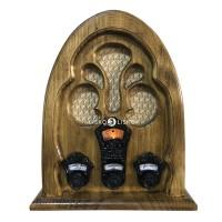 Radio Antigo Retrô Capela AM/FM e Bluetooth - 127V/220V ou Bateria