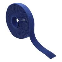 Fita Organizadora de Cabos Dupla Face Azul 3m x 2cm